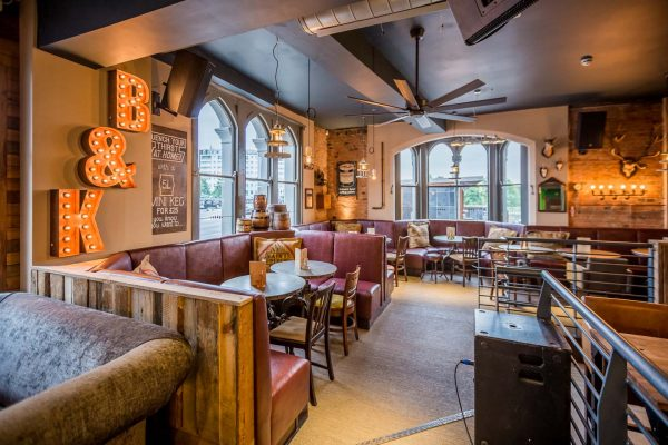 Interior of Brewhouse & Kitchen in Nottingham.