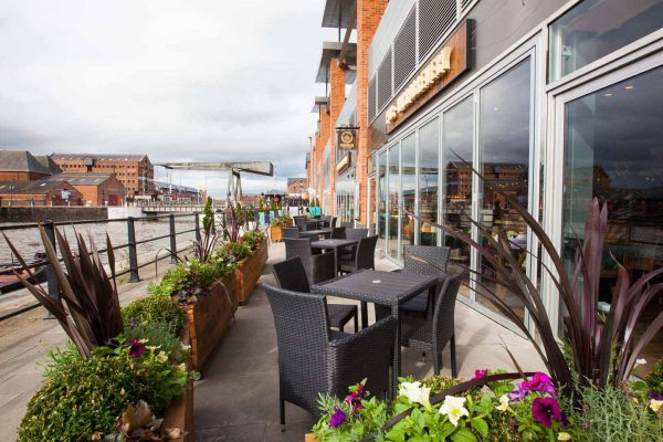 An exterior photo of Brewhouse & Kitchen, Gloucester Quays